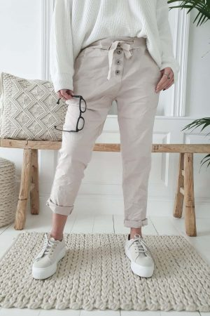 Bypias Perfect Jogger Buttons beige