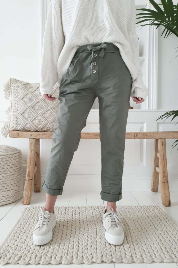 Bypias Perfect Jogger Buttons olive