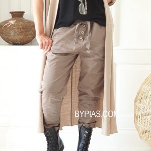 Perfect Buttons Jogger taupe