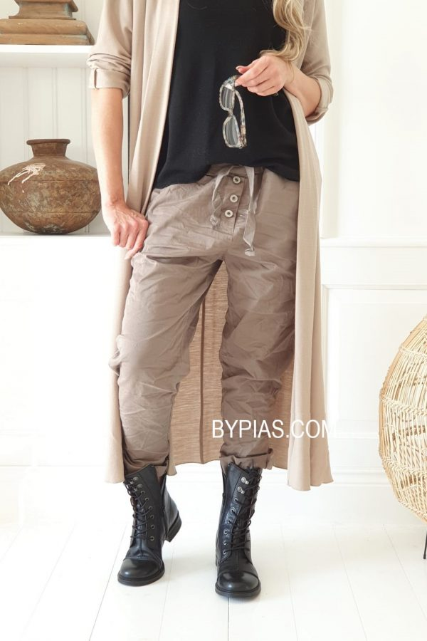 Bypias Perfect Jogger Buttons Taupe