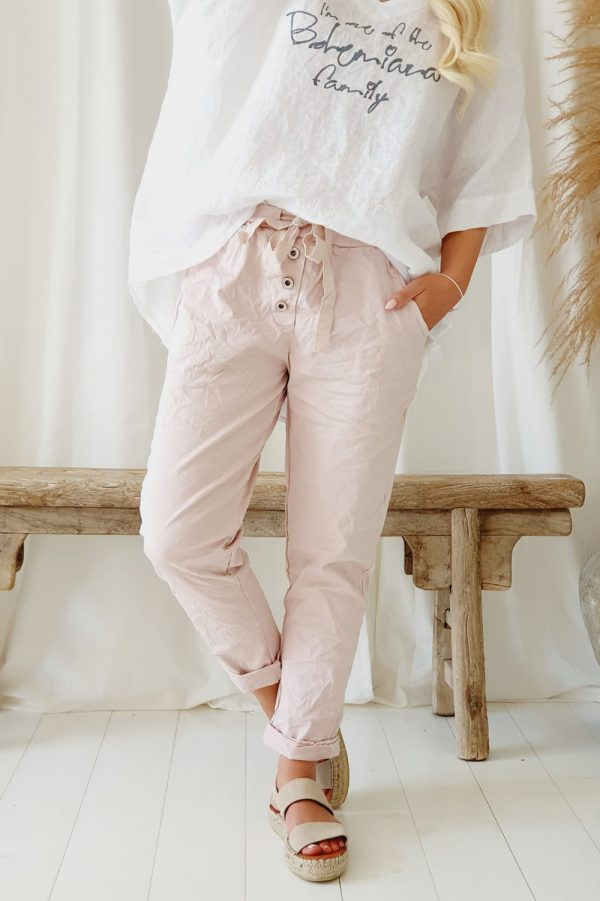 Bypias Perfect Jogger Buttons Rose
