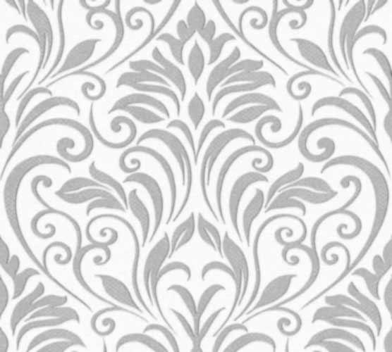 Tapete-Barock-Ornamente-creme-grau-Moments-schwarzweiss-weichzeichner