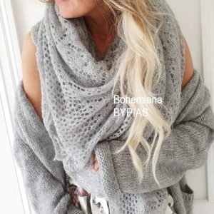Dreamy Mohair Scarf grey