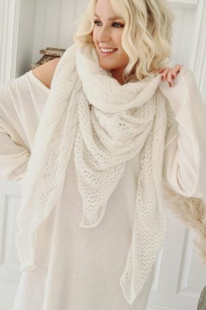 Bypias Dreamy Mohair Scarf off white
