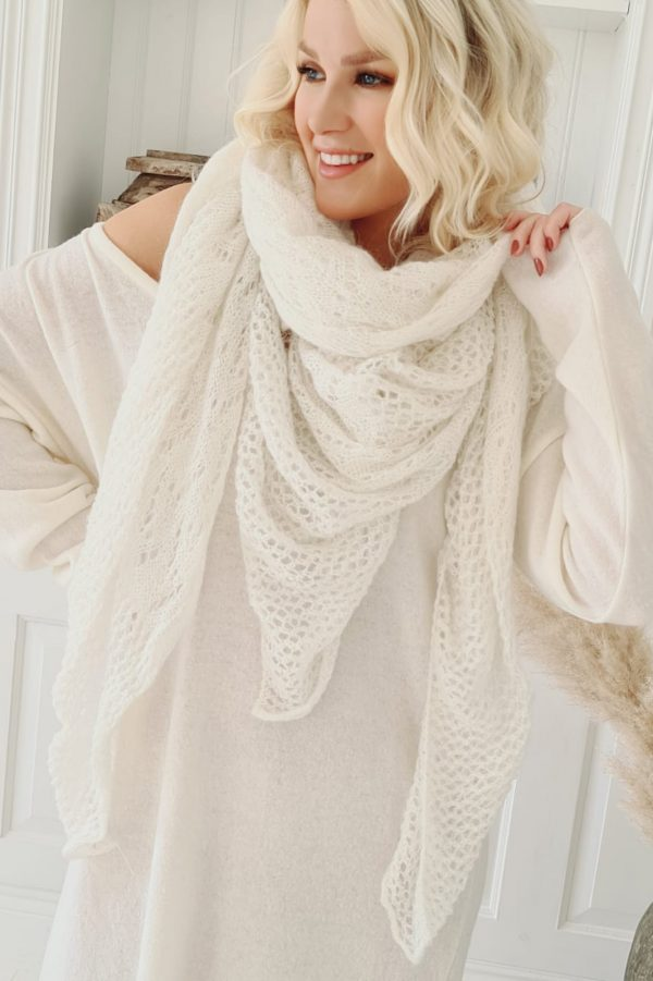 Dreamy Mohair Scarf off white