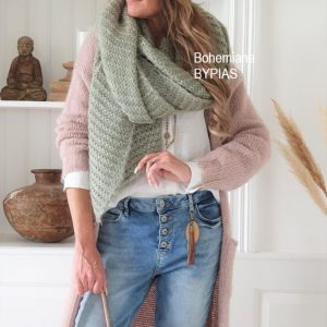 Chunky Knit Mohair Scarf danish green