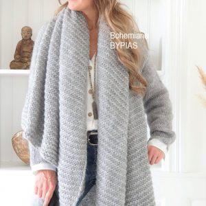 Chunky Knit Mohair Scarf grey