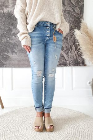 Bypias Perfect Jeans relaxed fit, light blue