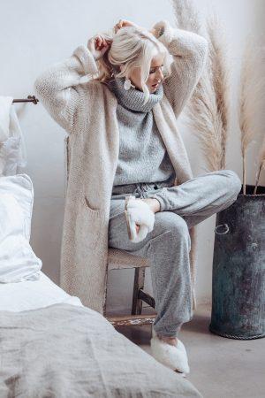Bypias Slowly Morning Cardigan beige