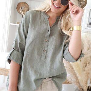 Bypias Amor Linen Shirt olive