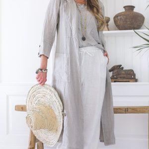 Bypias Divinity Linen Jacket grey