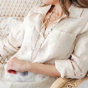 Bypias Shaggy Linen Shirt beige