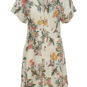 Cream Kleid Blumen