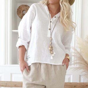 Bypias Amor Linen Shirt white