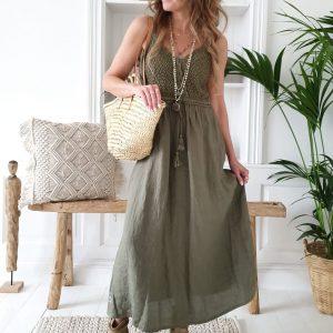 Bypias Love me Linen Dress olive